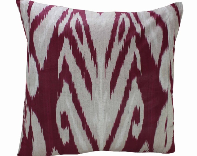 Cotton Ikat Pillow, Hand Dyed Ikat Pillow Cover,  IP230, Ikat throw pillows, Designer pillows, Decorative pillows, Accent pillows