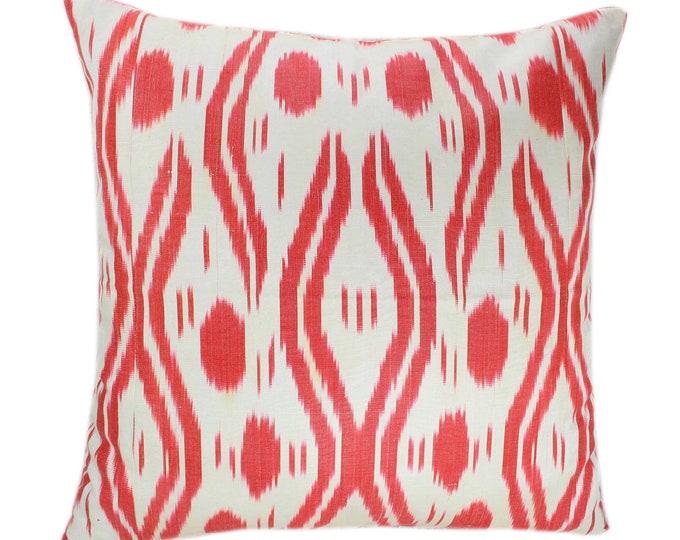 Ikat Cushion, Silk Ikat Pillow, Hand Dyed Ikat Pillow Cover,  IP363, Designer pillows, Decorative pillows, Accent pillows