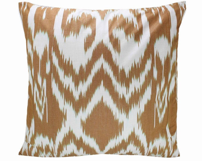 Cotton Ikat Pillow, Ikat Pillow Cover,  IP258, Ikat throw pillows, Designer pillows, Decorative pillows, Accent pillows