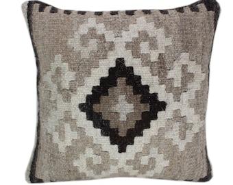 NEW Wool Pillow, Kilim Pillow, Decorative Pillows, Designer Pillows,  Bohemian Pillow, Accent Pillows, Throw Pillows, NKP3
