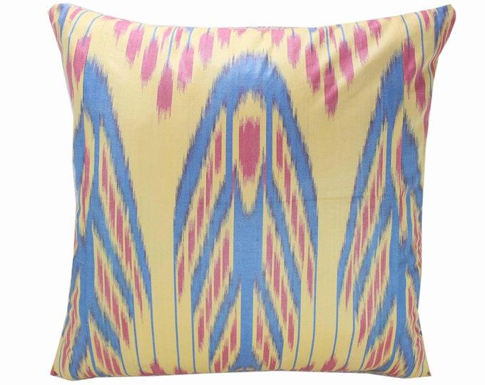 Cotton Ikat Pillow, Ikat Pillow Cover,  IP252, Ikat throw pillows, Designer pillows, Decorative pillows, Accent pillows