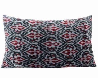 Silk Velvet Ikat Pillow Cover VP218, Bohemian pillow, Velvet Ikat Pillow, Velvet Pillow, Velvet Pillow Cover, Ikat Pillows, Throw Pillows