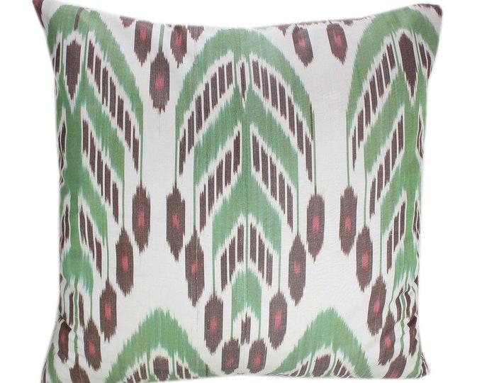 Ikat Pillow, Hand Woven Ikat Pillow Cover IP371, Ikat throw pillows, Designer pillows, Decorative pillows, Accent pillows