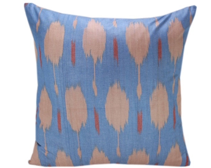 Cotton Ikat Pillow, Hand Dyed Ikat Pillow Cover,  IP248, Ikat throw pillows, Designer pillows, Decorative pillows, Accent pillows