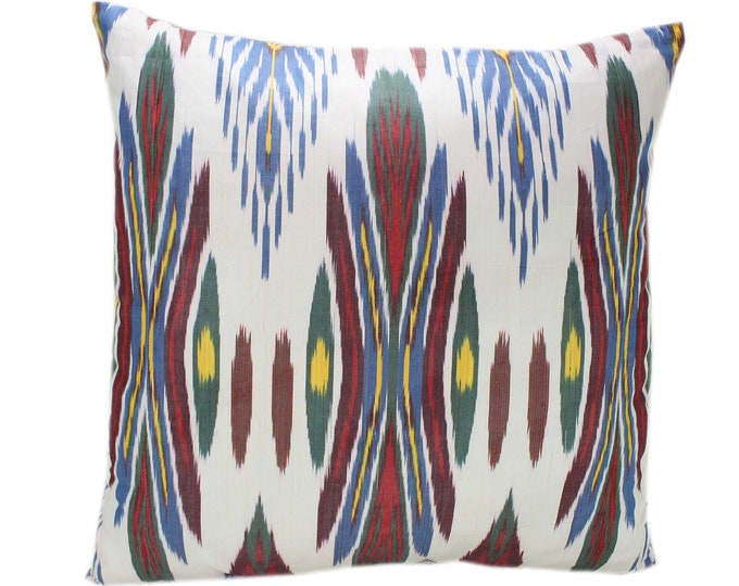 Cotton Ikat Pillow, Hand Dyed Ikat Pillow Cover,  IP235, Ikat throw pillows, Designer pillows, Decorative pillows, Accent pillows