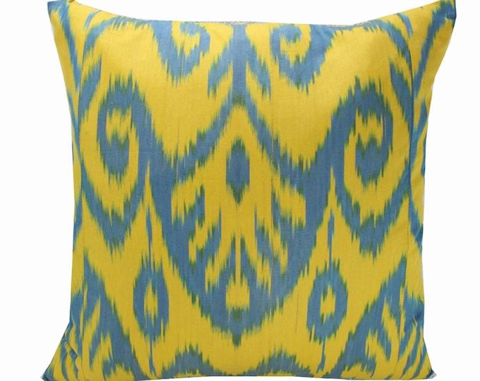 Cotton Ikat Pillow, Ikat Pillow Cover,  IP255, Ikat throw pillows, Designer pillows, Decorative pillows, Accent pillows