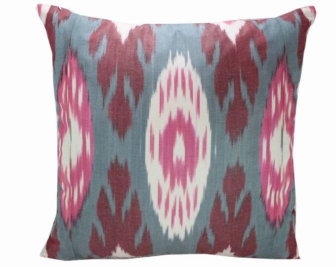 Cotton Ikat Pillow, Ikat Pillow Cover,  IP254, Ikat throw pillows, Designer pillows, Decorative pillows, Accent pillows