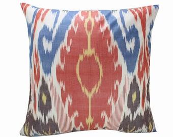 Cotton Ikat Pillow, Ikat Pillow Cover,  IP253, Ikat throw pillows, Designer pillows, Decorative pillows, Accent pillows