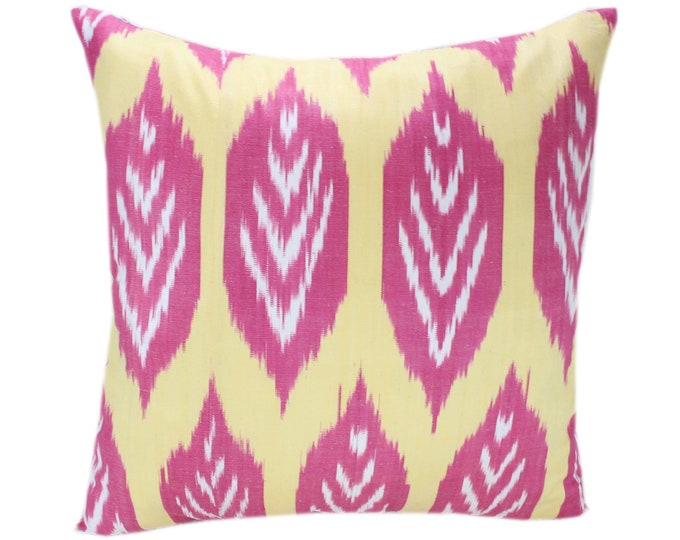 Cotton Ikat Pillow, Hand Dyed Ikat Pillow Cover,  IP247, Ikat throw pillows, Designer pillows, Decorative pillows, Accent pillows