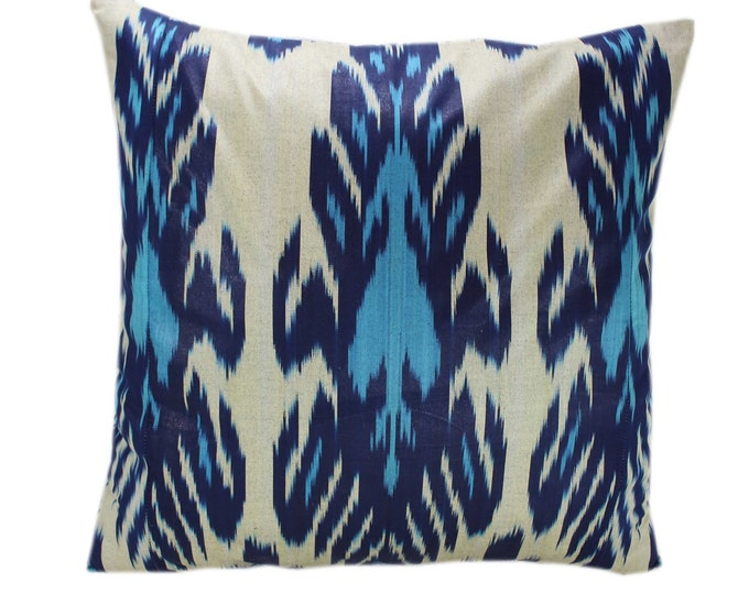 Cotton Ikat Pillow, Hand Dyed Ikat Pillow Cover,  IP234, Ikat throw pillows, Designer pillows, Decorative pillows, Accent pillows