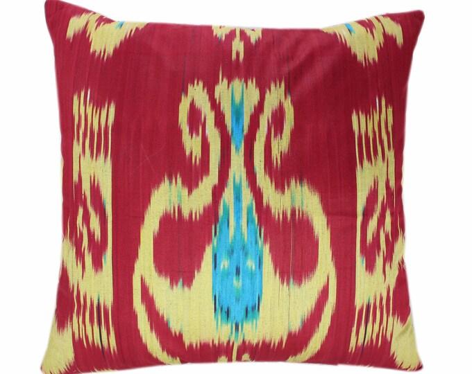 Ikat Cushion, Cotton Ikat Pillow, Hand Dyed Ikat Pillow Cover,  IP360, Designer pillows, Decorative pillows, Accent pillows