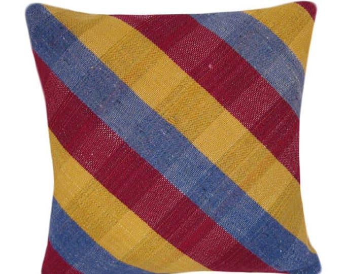 Kilim Pillow Cover, Kilim Pillow,Bohemian Pillow, Kilim Cushions, Turkish Kilim, Decorative Pillows, Wool Pillow, KP1 (tp109)