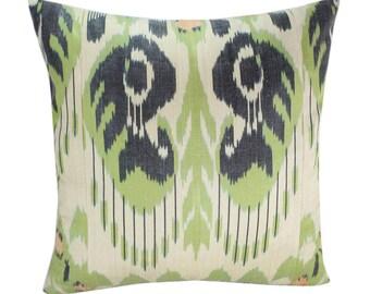 Ikat Pillow, Handmade Ikat Pillow Cover IP161 (S181), Ikat throw pillows, Designer pillows, Decorative pillows, Accent pillows