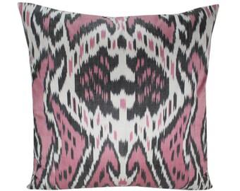 Ikat Pillow, Handmade Ikat Pillow Cover  IP158 (S170), Ikat throw pillows, Designer pillows, Decorative pillows, Accent pillows