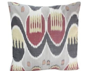 Ikat Pillow, Handmade Ikat Pillow Cover IP150 (S183), Ikat throw pillows, Designer pillows, Decorative pillows, Accent pillows