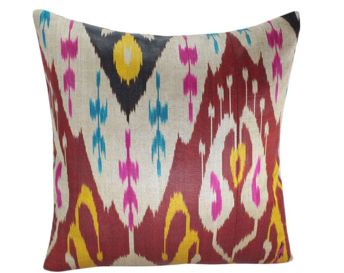Ikat Pillow, Handmade Ikat Pillow Cover  IP156 (S167), Ikat throw pillows, Designer pillows, Decorative pillows, Accent pillows