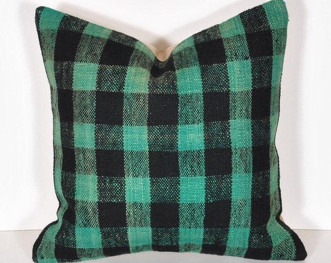 Kilim Pillow Cover, Kilim Pillow, Bohemian Pillow, Kilim Cushions, Turkish Kilim, Decorative Pillows, Wool Pillow, KP4 (tp594)
