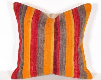 Kilim pillow cover, Kilim Pillow, Turkish Pillow, Kilim Cushions, Kilim, Moroccan Pillow, Bohemian Pillow, Turkish Kilim, KP36
