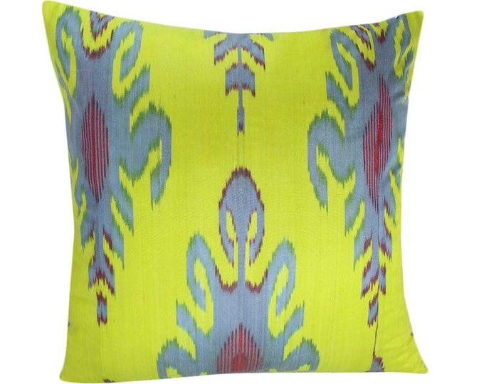 Ikat Pillow, Handmade Ikat Pillow Cover  IP138 (S171), Ikat throw pillows, Designer pillows, Decorative pillows, Accent pillows