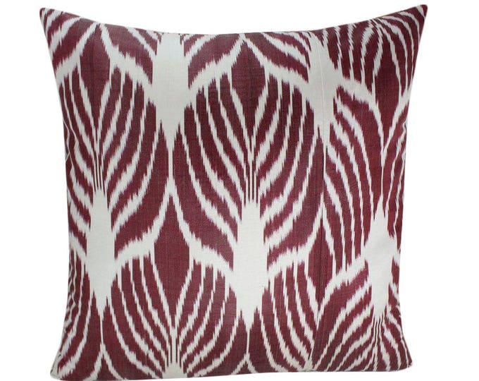 Ikat Pillow, Handmade Ikat Pillow Cover  IP157 (S168), Ikat throw pillows, Designer pillows, Decorative pillows, Accent pillows