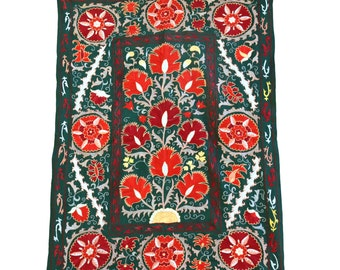 Silk Handmade Modern Suzani NS21