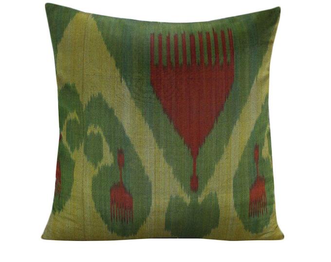 Ikat Pillow, Handmade Ikat Pillow Cover  IP137 (S166), Ikat throw pillows, Designer pillows, Decorative pillows, Accent pillows