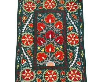 Silk Handmade Modern Suzani NS22