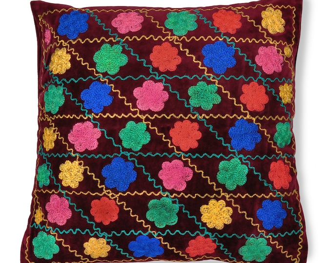 "Bukhara Bouquet, 19"" Patduzi Pillow Cover- PP2 (4067)"