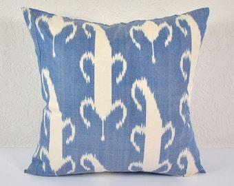 Ikat Pillow, Hand Woven Ikat Pillow Cover IP36 (A417-1AA2), Ikat throw pillows, Designer pillows, Decorative pillows, Accent pillows