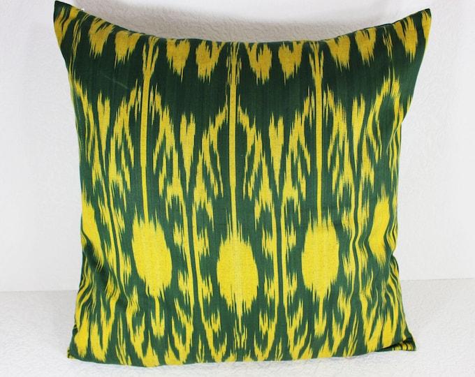 Cotton Ikat Pillow, Ikat Pillow Cover,  CP27 (C162), Ikat throw pillows, Designer pillows, Decorative pillows, Accent pillows
