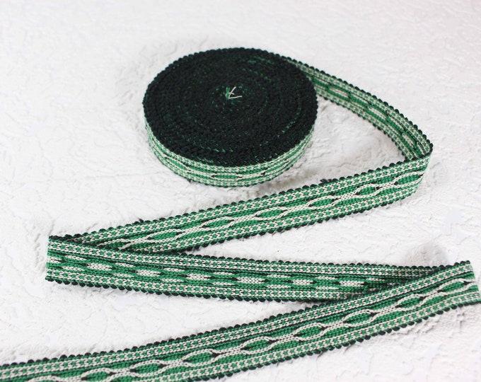Woven Trim (6 yards), Woven Border, Cotton Ribbon, Grosgrain Ribbon, Dress Border, Border Trim, T435