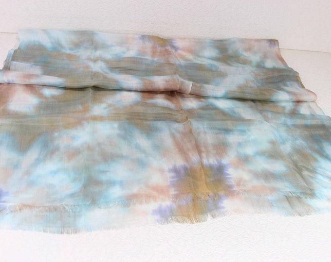 Hand Dyed Scarf, Ikat Scarf, Scarf, Silk Scarf, Sc76