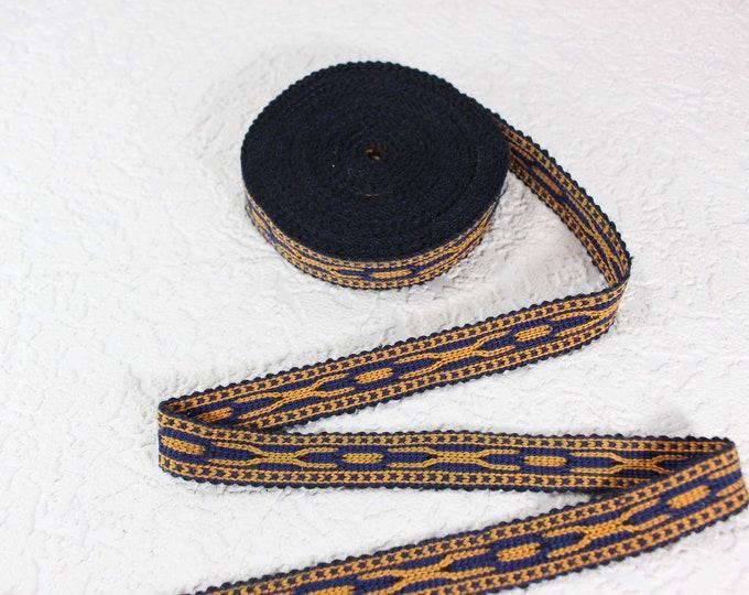 Woven Trim (6 yards), Woven Border, Cotton Ribbon, Grosgrain Ribbon, Dress Border, Border Trim, T430
