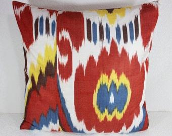 Cotton Ikat Pillow, Ikat Pillow Cover,  CP22 (C134), Ikat throw pillows, Designer pillows, Decorative pillows, Accent pillows