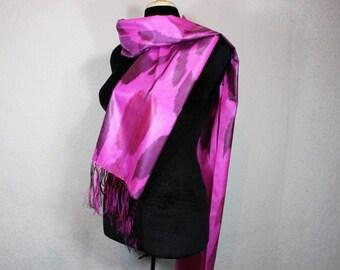 Ikat Scarf, Silk Scarf Sc15
