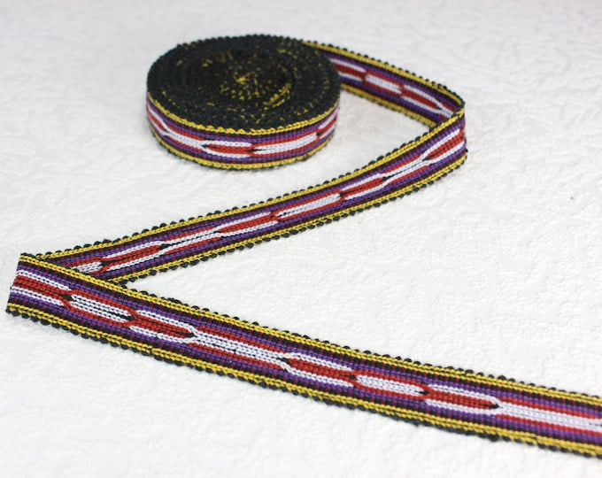 Woven Trim (4 yards), Woven Border, Cotton Ribbon, Grosgrain Ribbon, Dress Border, Border Trim, T115 (R299)