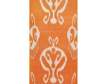 Silk Ikat Fabric, Ikat Fabric by the yard, Hand Woven Fabric , F11
