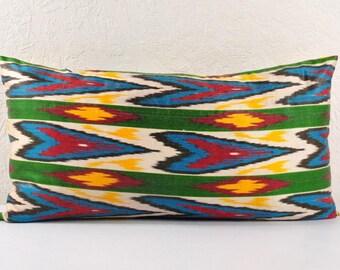 Ikat Pillow, Hand Woven Ikat Pillow Cover  IP90 (lip103), Ikat throw pillows, Designer pillows, Decorative pillows, Accent pillows