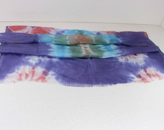 Hand Dyed Scarf, Ikat Scarf, Scarf, Silk Scarf, Sc65