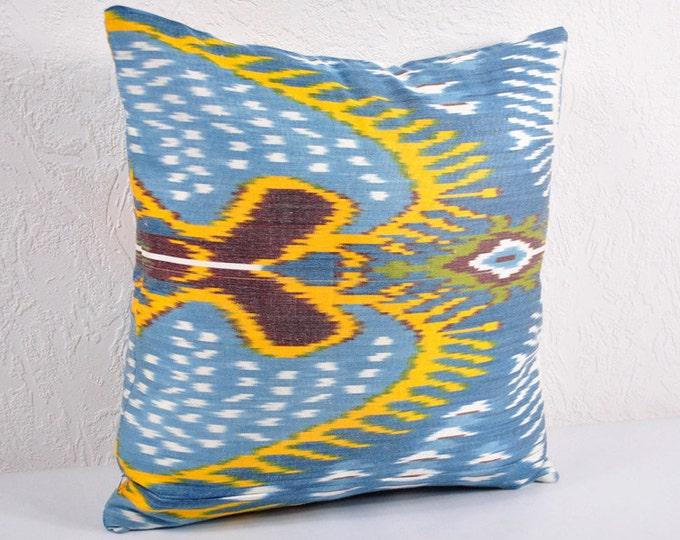 Sale! Ikat Pillow, Hand Woven Ikat Pillow Cover IP21 (A541-18), Ikat throw pillows, Designer pillows, Decorative pillows, Accent pillows