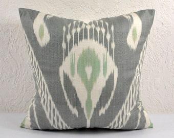 Ikat Pillow, Hand Woven Ikat Pillow Cover IP33 (A514-1AA1), Ikat throw pillows, Designer pillows, Decorative pillows, Accent pillows