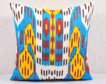 Ikat Pillow, Hand Woven Ikat Pillow Cover IP10 (spi488-20), Ikat throw pillows, Designer pillows, Decorative pillows, Accent pillows