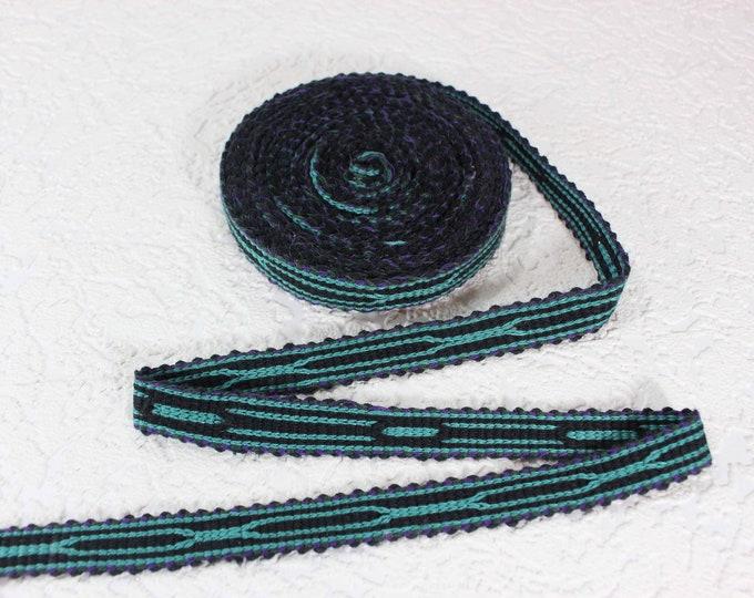 Woven Trim (6 yards), Woven Border, Cotton Ribbon, Grosgrain Ribbon, Dress Border, Border Trim, T432
