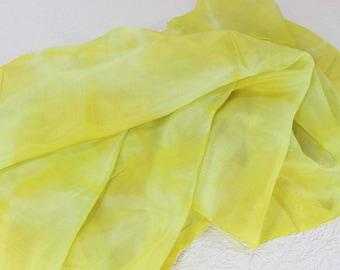 Hand Dyed Scarf, Ikat Scarf, Scarf, Silk Scarf, Sc84