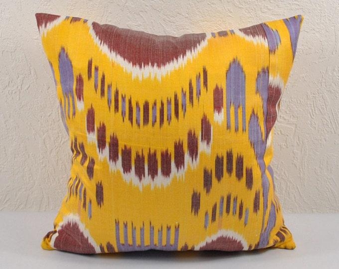 Sale! Ikat Pillow, Hand Woven Ikat Pillow Cover  IP5 (a468-1aa2), Ikat throw pillows, Designer pillows, Decorative pillows, Accent pillows