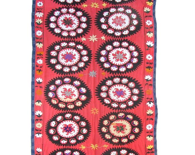 Suzani Wall Hanging, Handmade Vintage Suzani VS107 (NL2149), Uzbek Suzani, Suzani Blanket, Suzani Tapestry, Suzani Bedding, Suzani Throw