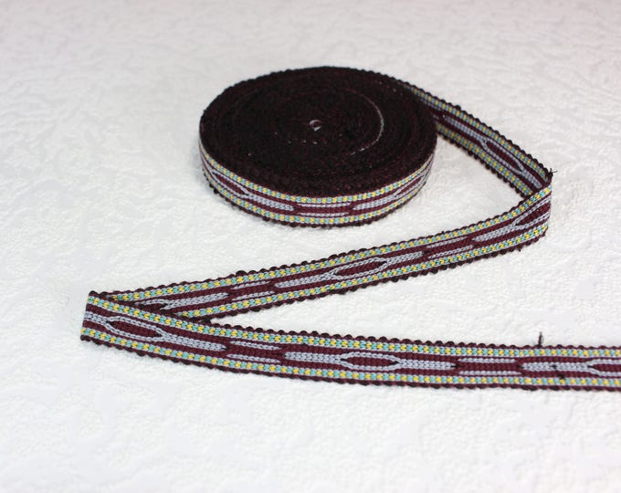 Woven Trim (6 yards), Woven Border, Cotton Ribbon, Grosgrain Ribbon, Dress Border, Border Trim, T122 (R264)