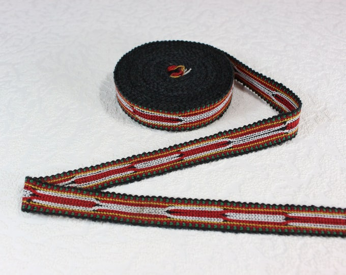 Woven Trim (6 yards), Woven Border, Cotton Ribbon, Grosgrain Ribbon, Dress Border, Border Trim, T111 (R455)