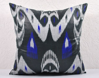 Ikat Pillow, Hand Woven Ikat Pillow Cover IP89 (a111-1aa3), Ikat throw pillows, Designer pillows, Decorative pillows, Accent pillows