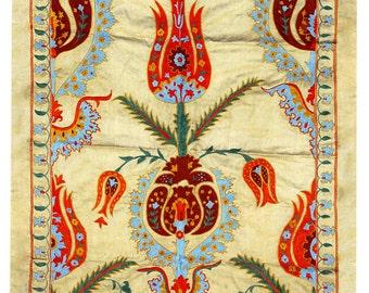 Hand Embroidered Uzbek Modern Suzani NS15 (L1079)